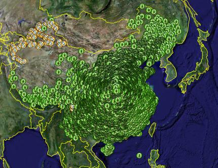 China-Google Earth